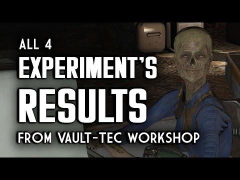 All 4 Experiment's Results - Vault-Tec Workshop - Fallout 4