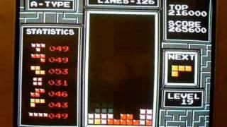 Original Nintendo Tetris Level 19 - 29!!!