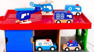 Playing with Police Vehicles and Car Wash Playset for Kids | Learn with Yippee Toys