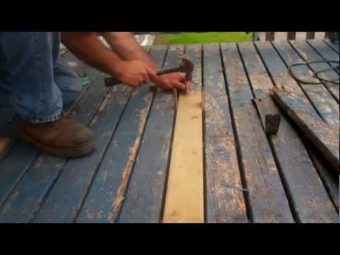 How to replace rotten decking
