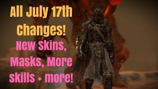 ALL CHANGES IN JULY 17th UPDATE | NEW MASKS, SKINS, SKILLS AND MORE! (Shadow of War Update)
