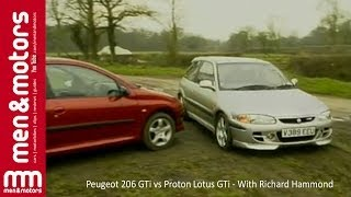 Peugeot 206 GTi vs Proton Lotus GTi - With Richard Hammond