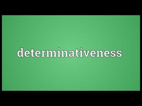 Header of determinativeness
