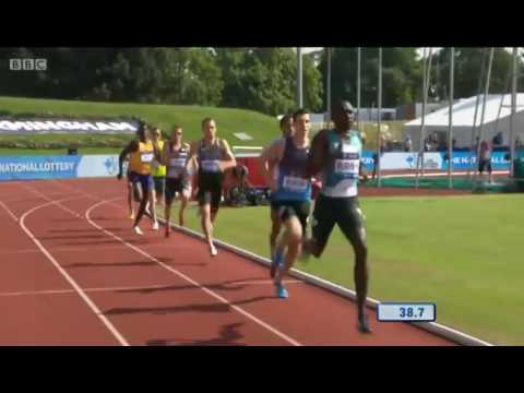 David Rudisha shows fastest time in years at Men's 600m Birmingham Diamond League 2016