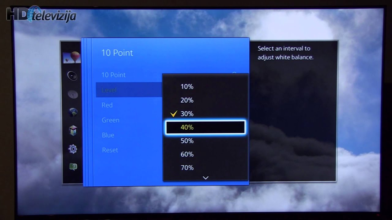 how to change screen settings on samsung tv
