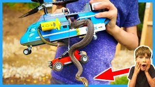 LEGO CITY REAL SNAKE HELICOPTER ATTACK! 🐍