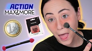 Zuschauerin schickt 1€ MAKEUP 😳 FULL FACE only using Max&More ACTION MAKEUP 🧐 Hatice Schmidt