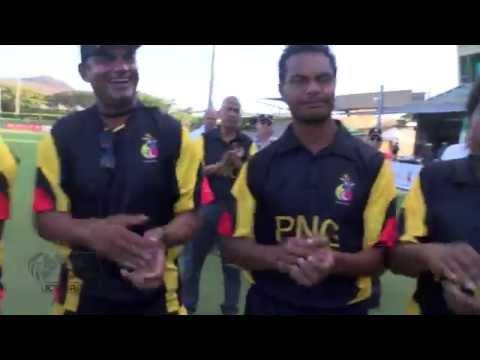 Celebrations and player reactions - PNG v Hong Kong ODI #2