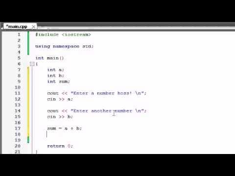 Buckys C++ Programming Tutorials   5   Creating a Basic Calculator
