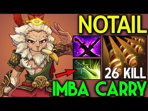NOTAIL Dota 2 [Monkey King] Imba Carry - 26 Kills