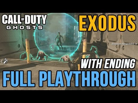 COD Ghosts: Extinction Exodus Full Playthrough Guide 4 Player [Nemesis DLC Map]