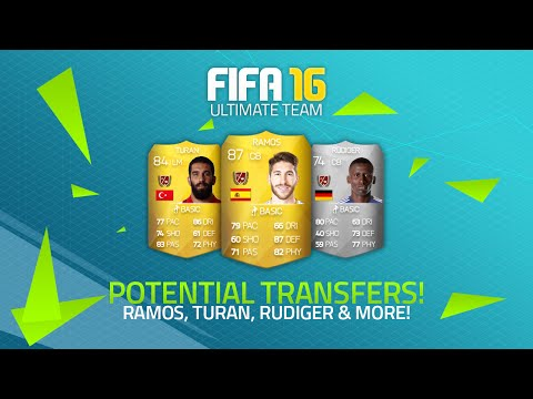 POTENTIAL FIFA 16 TRANSFERS! - SERGIO RAMOS, TURAN, RÜDIGER & MORE! | FIFA Ultimate Team