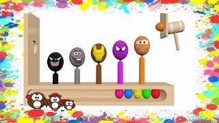 Learm COLORS SuRpRiSe EGGS -🎈Colours for Kids🎈 -  PLAY- DOH - Avengers, Marsha y el Oso, kids