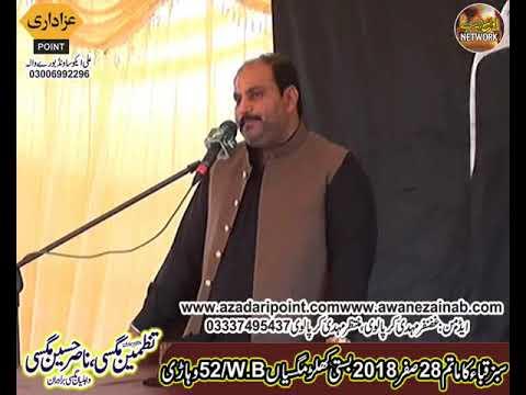 Zakir Majlis 28 Safar 2018 Chak 52WB Khular Maghsian Vehari