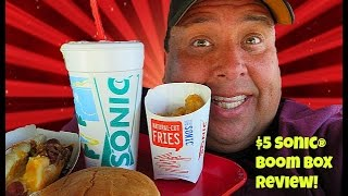 Sonic Drive-In's Fiery Cheese Burger & Black Cherry Frozen Clubhouse-Food Review #189