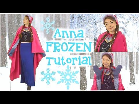 DIY Anna Frozen Costume, Hair, & Makeup!