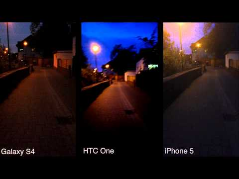 Samsung Galaxy S4, HTC One vs. iPhone 5: Kameravergleich - Foto und Video bei Nacht