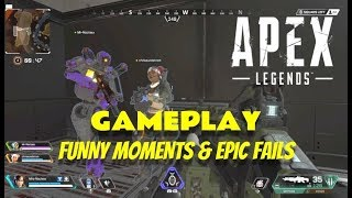 APEX LEGENDS GAMEPLAY // FUNNY MOMENTS & EPIC FAILS // Playing w/ Sunny & Corte on PS4