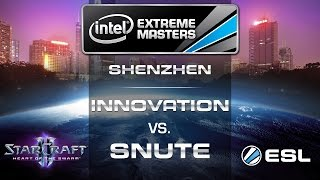 INnoVation vs. Snute - TvZ - Group B - IEM Shenzhen - StarCraft 2