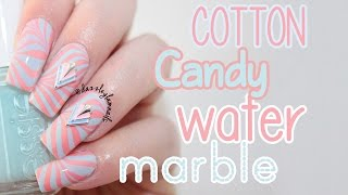 Cotton Candy Water Marble Nail Tutorial