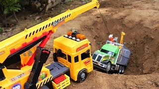 Excavator crane truck rescue cars toys - Toys Story For Kids