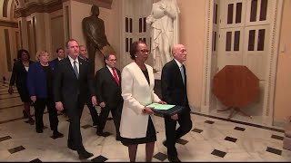 WATCH: Democrats walk articles of impeachment to the Senate