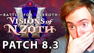 Asmongold Reacts To Visions of N'Zoth | Patch 8.3: Titanforging Rework, Allied Races & Ny'alotha