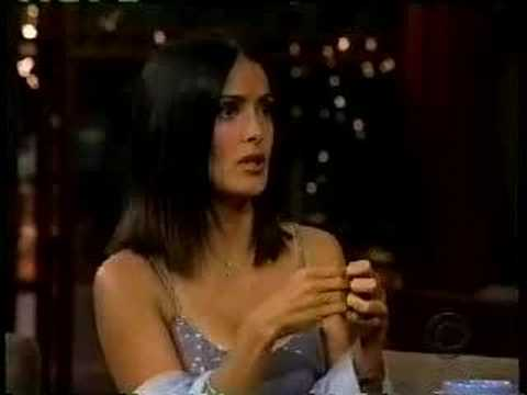 Salma Hayek on Letterman - Breasts