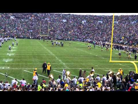 Notre Dame Vs Navy 11 02 2013. Here Come The Irish!!! video