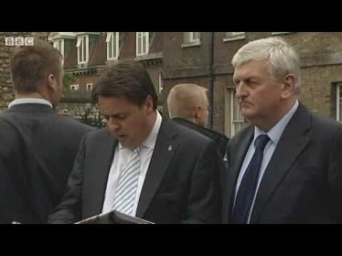 Nick Griffin pelted with eggs