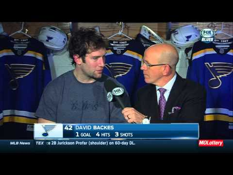 David Backes post game press conference. Montreal Canadiens vs St. Louis Blues Feb 24 2015 NHL