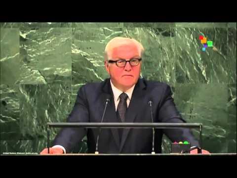 UN Speeches - German Foreign Minister Frank-Walter Steinmeier