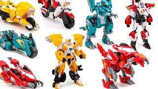 JinGang Robot Rescuers Brave Lion Dragon Dinosaur Set Bike Humanoid&Animal Type Transformation