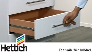 Ball-bearing partial extension runners for 17mm groove: Do-It-Yourself with Hettich