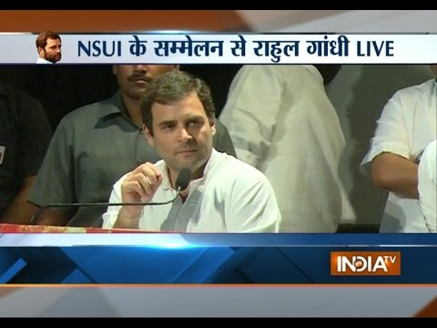 Rahul Gandhi addressing NSUI conference