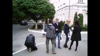 LIBER în UE, making off lîngă hotelul lui Plaho