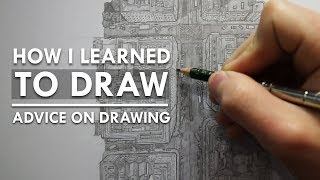 How I Learned To Draw - Advice On Drawing (Top Down City View)