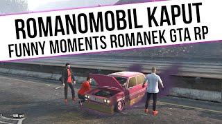 ROMANEK GTA RP   ROMANKOMOBIL KAPUT  [ PSYCHOLOG   DRAJVER ]   Funny Moments