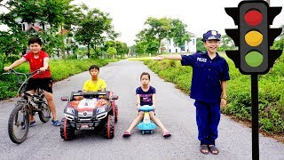 Kids Go To School | Hacona With Best Friends learn Police And In traffic The Children's Toys City