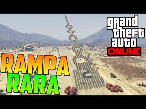 MEGA RAMPA RARA! QUE ES ESTO?! - Gameplay GTA 5 Online Funny Moments (Carrera GTA V PS4)