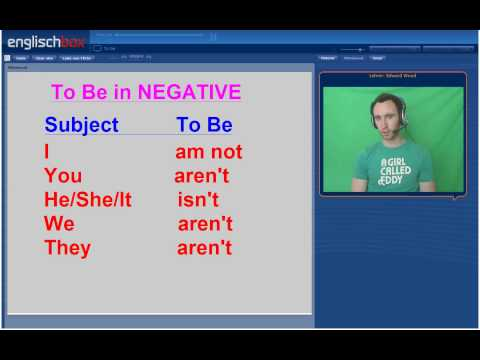 English lesson | Verb To Be in English