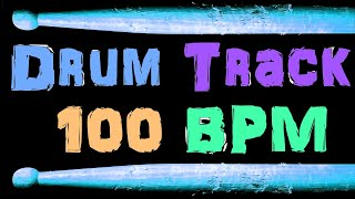 Funk Rock Groove Drum Track 100 BPM Bass Guitar Backing Beat Drums Only #305