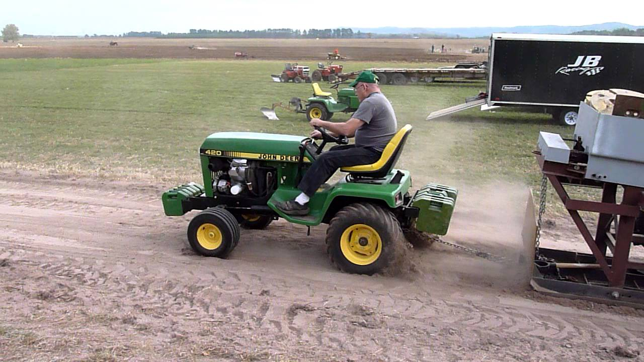 John Deere 420 Mike S Pulled Through At Plow Days Past