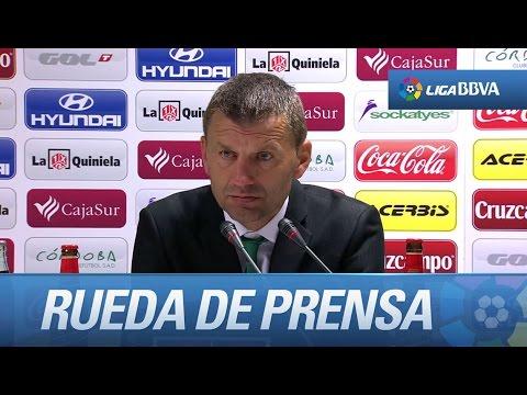 Rueda de prensa de Djukic tras el Córdoba CF (0-0) Deportivo de la