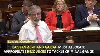 Gerry Adams comments on ongoing criminal feud in Dublin