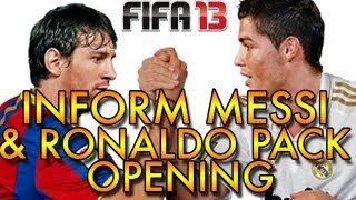Fifa 13 - Inform Messi + Ronaldo Pack Opening (Attempt)