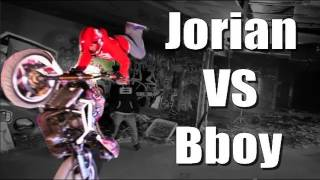 Motorcycle Stunts VS Break Dance - Jorian Ponomareff VS Bboy Keemo