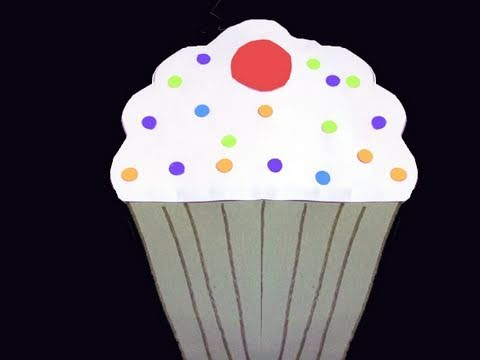 How to make a paper cupcake ep youtube - Moldes para hacer magdalenas ...