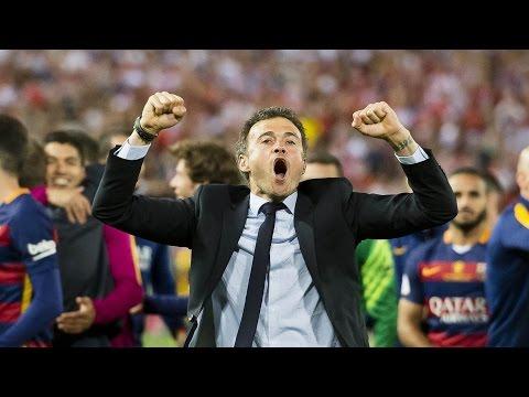 FC Barcelona – Copa del Rey Champions 2016: Luis Enrique celebrating the victory