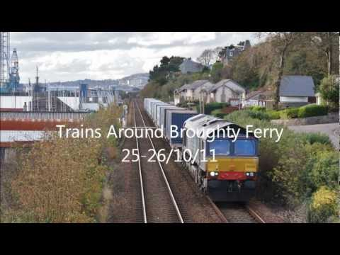 Passenger and Freight Trains at Broughty Ferry 25-26/10/11